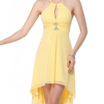 Charming Prom Dress,Yellow Prom Dre..