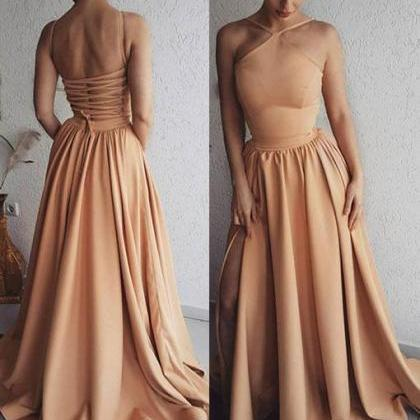 Unique long prom dress, evening dre..