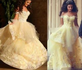 Yellow Prom Dresses ..