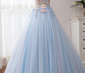 Light Blue Tulle Off..