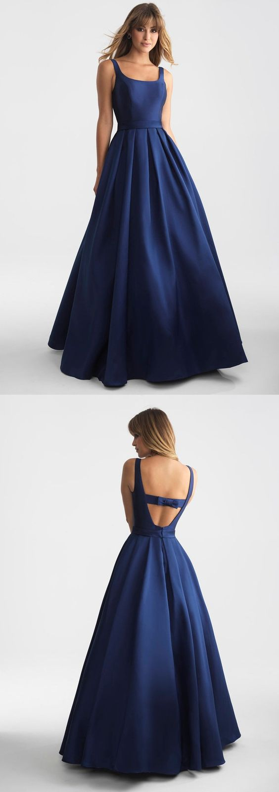 Elegant Navy Blue Long Prom Dress Evening Dress