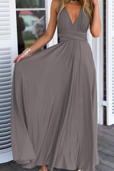 Prom Gown,Pretty Prom Dresses,Gray Prom Gown,Simple Prom Gown,Grey Bridesmaid Dress,Cheap Evening Dresses,Fall Prom Gowns,Beautiful Bridesmaid Gowns
