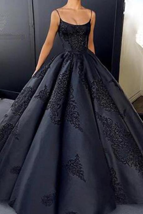Ball Gown Prom Dresses,Appliques Prom Dress,Long Formal Dress,Custom Prom Dresses,Quinceanera Dress