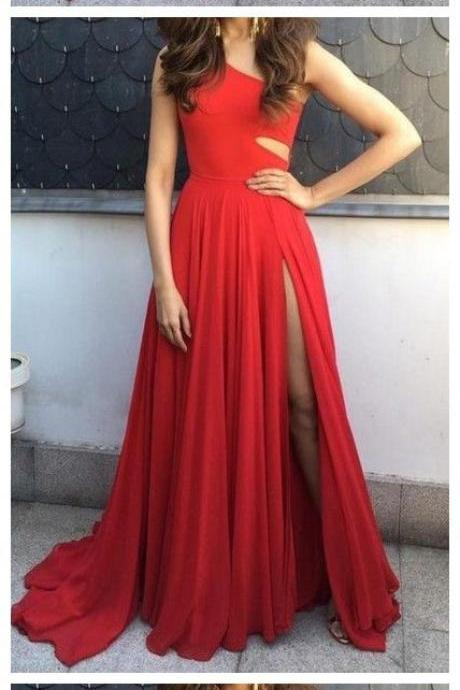 Long Red Prom Dress ,Evening Dresses
