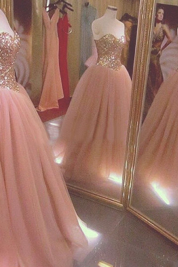 Blush Pink Prom Dresses,Ball Gown Prom Dress,Tulle Prom Dress,Simple Prom Dress,Tulle Prom Dress,Simple Evening Gowns,Cheap Party Dress,Elegant Prom Dresses,2020 Formal Gowns For Teens