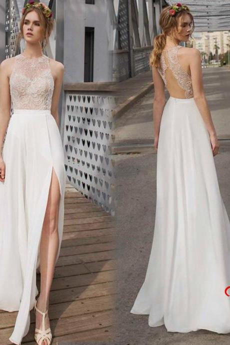 White Prom Dress ,Sexy Prom Dress, Lace Prom Dress,Chiffon Prom Dress,Long Prom Dress ,Cheap Prom Dress,Handmade Prom Dress,Custom Made Prom Dress, Vogue Prom Dresses