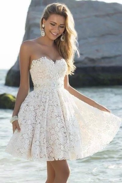 Short Graduation Dress,Lace Graduation Dress,Sweetheart Prom Dress