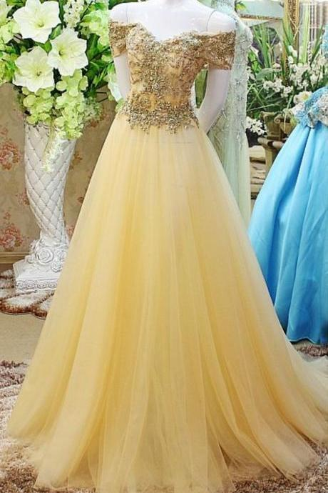 Beaded Prom Dress,Off The Shoulder Prom Dress,Illusion Prom Dress,Fashion Prom Dress,Sexy Party Dress, New Evening Dress