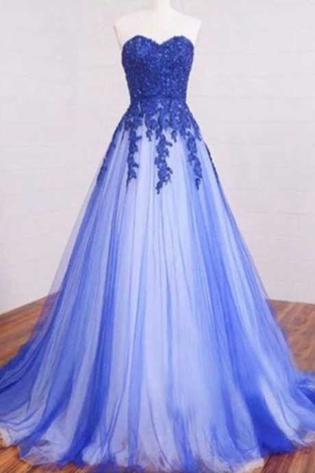 A line prom dress, tulle prom dresses, prom dresses , discount prom dresses, lace prom dresses,evening dress