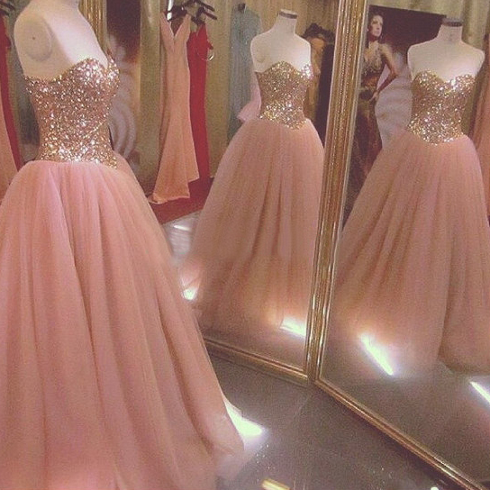 Blush Pink Prom Dresses,Ball Gown Prom Dress,Tulle Prom Dress,Simple Prom Dress,Tulle Prom Dress,Simple Evening Gowns,Cheap Party Dress,Elegant Prom Dresses,Formal Gowns For Teens